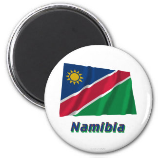 Namibia Waving Flag with Name Magnet