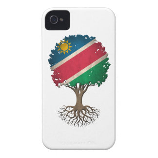 Namibian Flag Tree of Life Customizable iPhone 4 Covers