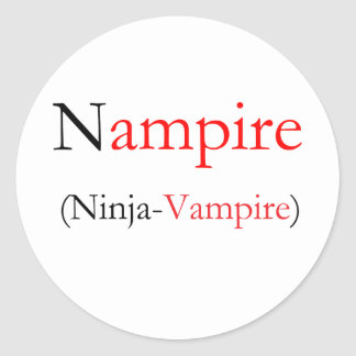Nampire - Ninja Vampire Round Sticker
