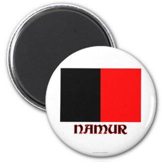 Namur Flag with Name 6 Cm Round Magnet