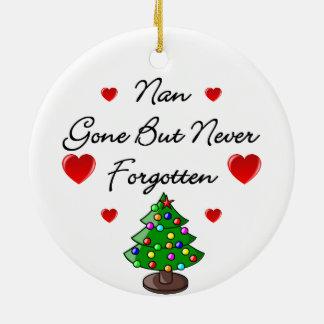 Nan Ceramic Memorial Christmas Tree Ornament