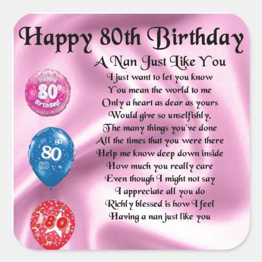 80th birthday rhymes