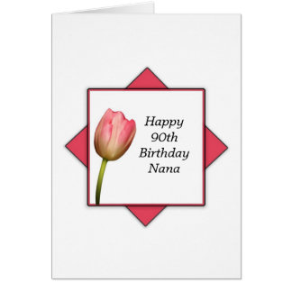 Nana 90th Birthday Card