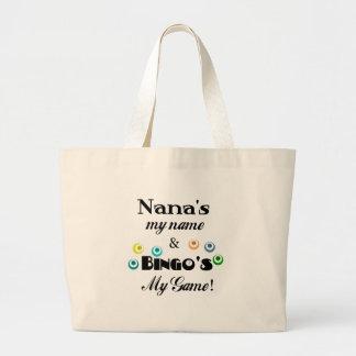 Nana and Bingo Jumbo Tote Bag