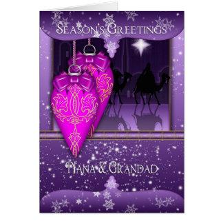 nana and grandad, three wise men season's greeting card