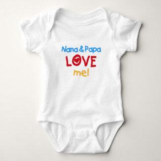 Nana and Papa Love Me Baby Bodysuit
