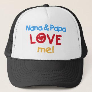 Nana and Papa Love Me Cap