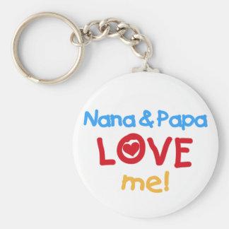 Nana and Papa Love Me Key Ring