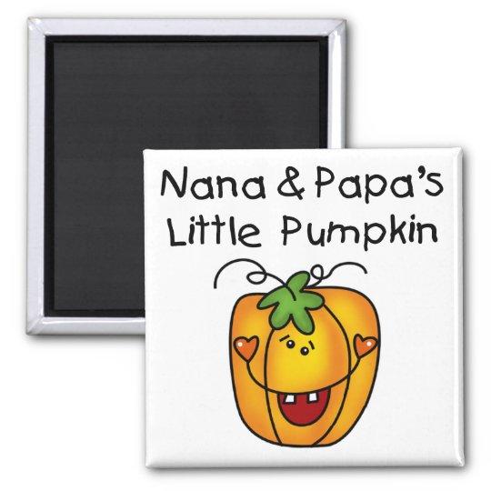 Nana and Papa's Little Pumpkin T-shirts Magnet