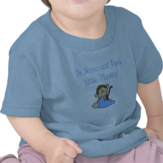 Nana and Papa's Monkey - Blue Tshirts and Gifts