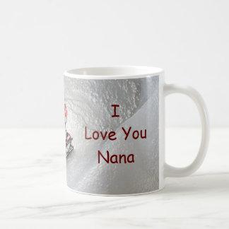 Nana Christmas - I Love You Penguin Basic White Mug