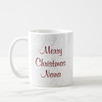 Nana Christmas Love Basic White Mug