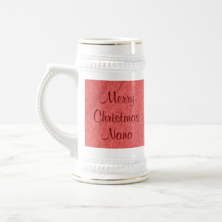 Nana Christmas Love Beer Steins