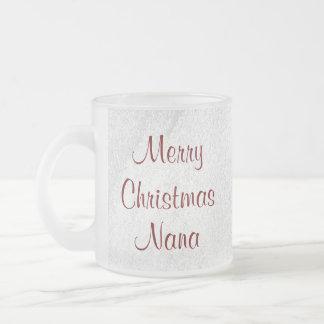 Nana Christmas Love Frosted Glass Mug