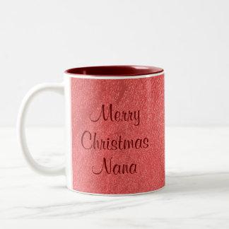Nana Christmas Love Two-Tone Mug