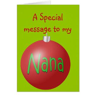 Nana Christmas ornament card