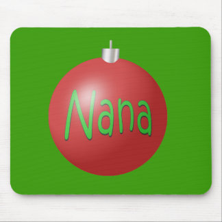 Nana - Christmas Ornament Mouse Mat
