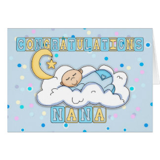 Nana Congratulations New Baby Boy Card