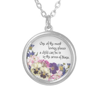 Nana gift silver plated necklace