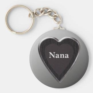 Nana Heart Keychain