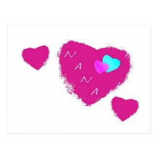 Nana Hearts Post Card
