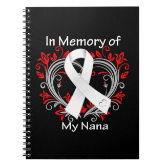 Nana - In Memory Lung Cancer Heart Notebooks