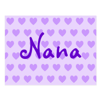 Nana in Purple Postcard