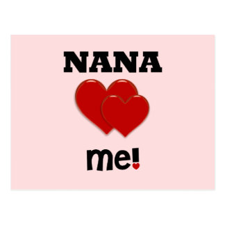 Nana Loves Me Postcard