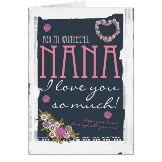 Nana Mother's day card trendy and modern
