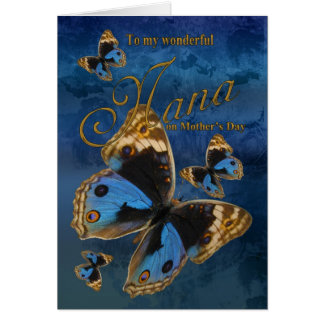 Nana, Mother's Day Card With Butterflies