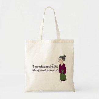 Nana Néné, Walking down the street. Budget Tote Bag