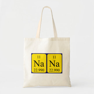 Nana periodic table name tote bag
