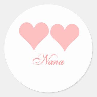 Nana pink hearts sticker