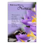 Nana purple crocus Birthday Card