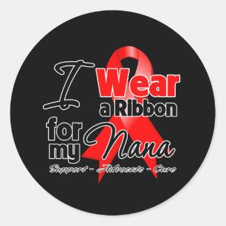 Nana - Red Ribbon Awareness Round Sticker