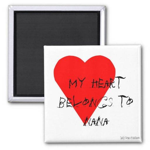 Nana' s Heart Magnet