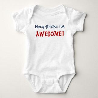 Nana Thinks I'm Awesome! Baby Infant Bodysuit