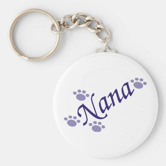 Nana With Paws Keychain
