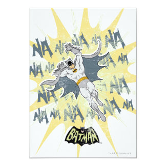 NANANANANANA Batman Graphic 13 Cm X 18 Cm Invitation Card