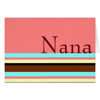 Nana's Cream blue brown pink Card