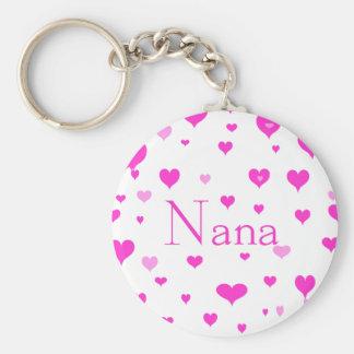 Nana's Hearts Keychain