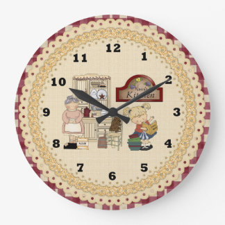 Nana's Kitchen cartoon wall clock