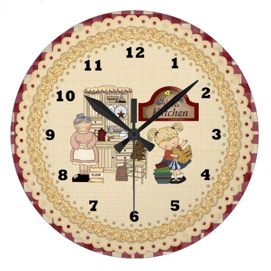 Nana's Kitchen cartoon wall clock
