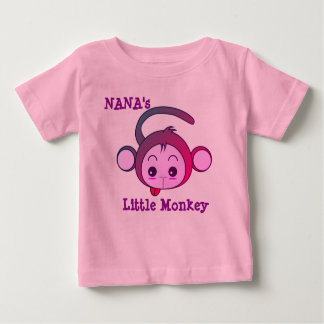 Nana's Little Monkey Baby T-Shirt