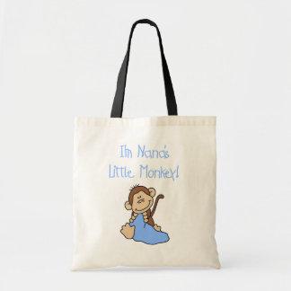Nana's Little Monkey - Blue Tshirts and Gifts Budget Tote Bag