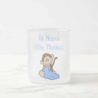 Nana's Little Monkey - Blue Tshirts and Gifts Frosted Glass Mug
