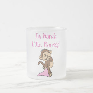 Nana's Monkey - Pink T-shirts and Gifts Frosted Glass Coffee Mug