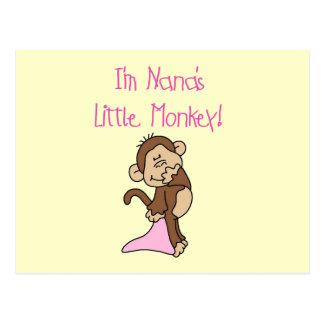 Nana's Monkey - Pink T-shirts and Gifts Postcard