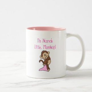 Nana's Monkey - Pink T-shirts and Gifts Two-Tone Mug