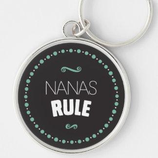 Nana's Rule Keychain – Black